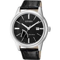 CITIZEN 星辰 雅痞能量顯示光動能皮帶腕錶/41.5mm/AW7000-07E