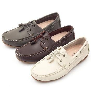 G.Ms. MIT情侶鞋系列-水洗牛皮帆船男鞋-3色