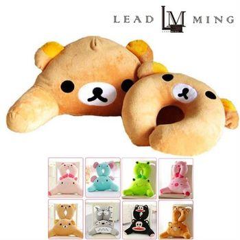【Leadming】可愛造型腰靠+頸枕組合組(多種造型可選)