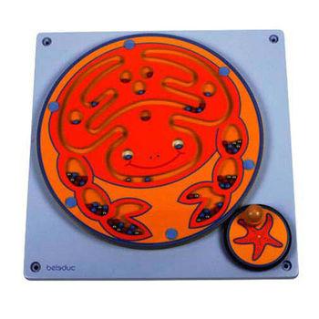 【華森葳兒童教玩具】益智邏輯系列-牆板遊戲-螃蟹夾珠 K2-23629
