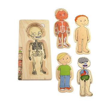 【華森葳兒童教玩具】益智邏輯系列-多層拼圖-男孩 K2-17129