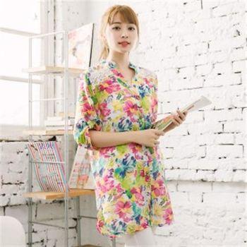 【愛瑞琪IRICHI】亮彩沁涼絲棉長版襯衫(2件組)