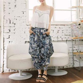 【愛瑞琪IRICHI】日系修身零束縛棉麻感造型褲(2色選)