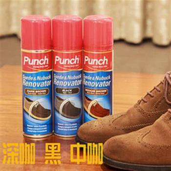 【鞋之潔】英國PUNCH 064麂皮補色噴劑200ml 防雨水污塵 回復原色