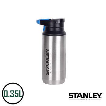 【美國Stanley】不鏽鋼保溫瓶/登山系列 Switchback單手真空保溫杯 0.35L(不鏽鋼原色)