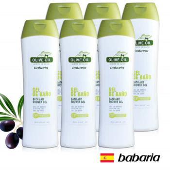 【西班牙Babaria】橄欖沐浴乳600ml(六入超值組)