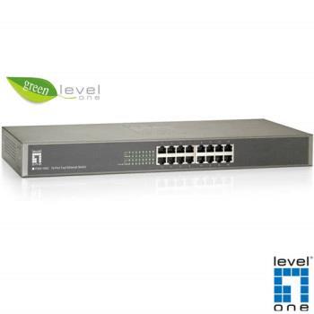 【LevelOne】 16埠綠色環保乙太網路交換器  (FSW-1650)