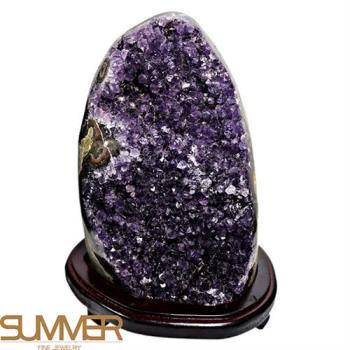 SUMMER寶石  3A級烏拉圭紫晶鎮《3407g》(頂級深紫色-9A-11)