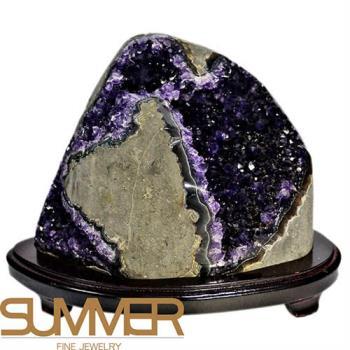 SUMMER寶石  3A級烏拉圭紫晶鎮《2719g》(頂級深紫色-9A-07)