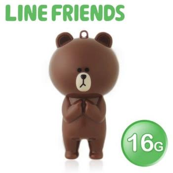 LINE FRIENDS 16GB 立體造型隨身碟-熊大 (WH-LN223B)