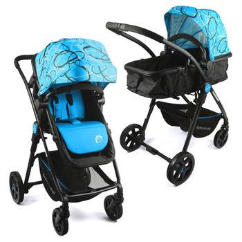 BabyBabe 超輕量歐式高景觀嬰幼兒手推車(圈圈藍)