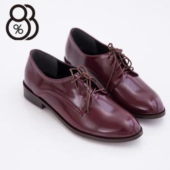 【88%】台灣製韓版熱賣質感亮皮綁帶低跟紳士鞋牛津鞋包鞋 2色