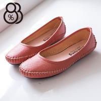 【88%】精緻車線舒適超柔軟平底休閒鞋豆豆鞋 走路鞋 4色