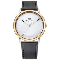 Olympia Star 奧林比亞之星-玩色時尚腕錶/40mm- 白面黑帶-送帆布錶帶 58055MSR