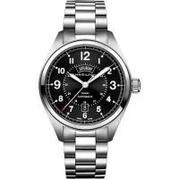 Hamilton KHAKI FIELD卡其野戰機械腕錶-黑x銀/42mm H70505133
