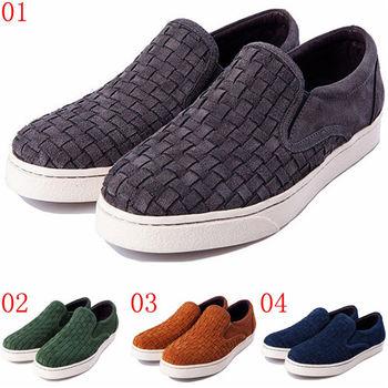 (預購)pathfinder款9413F復古時尚懶人套腳樂福男鞋 牛皮編織潮流文化休閒板鞋(JHS杰恆社)