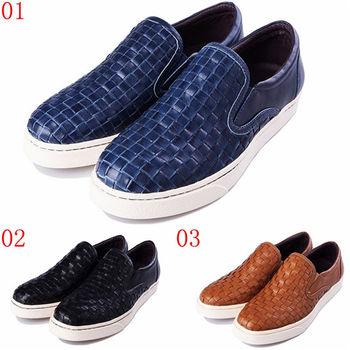 (預購)pathfinder款9413M春季男士真皮編織潮流文化板鞋 PF懶人套腳樂福休閒鞋(JHS杰恆社)