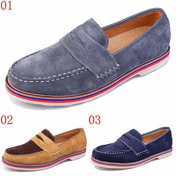 (預購)pathfinder款20021男士英倫復古潮流懶人套腳樂福鞋PF真皮低幫休閒鞋(JHS杰恆社)