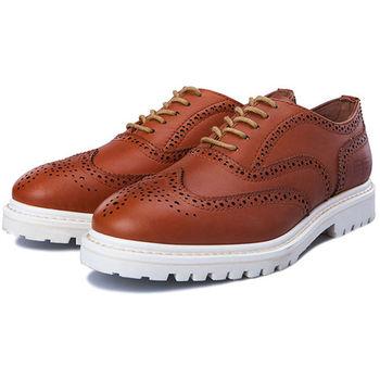 (預購)pathfinder款8141英倫潮流雕花鏤空布洛克鞋PF男士時尚牛皮牛津松糕鞋(JHS杰恆社)