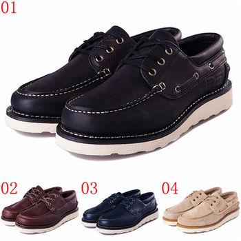 (預購)pathfinder款7042男士美式潮流真皮工裝鞋PF復古時尚低幫戶外休閒板鞋(JHS杰恆社)