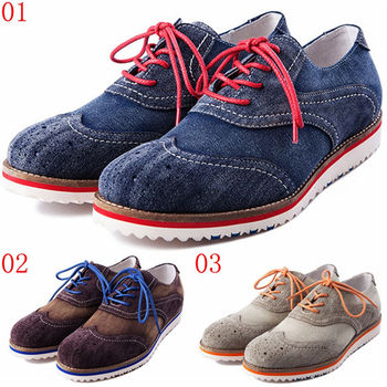 (預購)pathfinder款3413春季男士英倫復古潮流滑板鞋PF真皮休閒時尚布洛克鞋(JHS杰恆社)