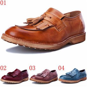 (預購)JHS杰恆社pathfinder款T1-622男士牛皮流蘇時尚樂福鞋PF英倫複古潮流套腳商務休閑鞋(JHS杰恆社)