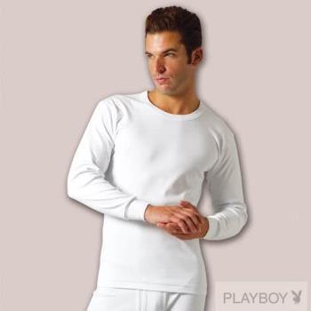 超值3件【PLAY BOY】M-XL台灣製100%時尚純棉毛圓領長袖衫pb2116b