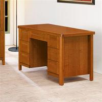 【時尚屋】[UZ6]泰豐樟木色4.2尺書桌UZ6-250-1