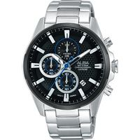 ALBA ACTIVE 活力運動型男計時腕錶-黑/42mm VD57-X081D(AM3343X1)