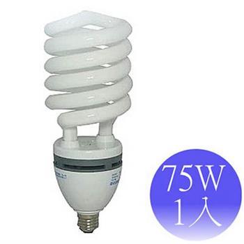 【東亞岱亞】75W 110V E27螺旋省電燈泡-1入(晝/黃)