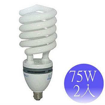 東亞岱亞 75W 110V E27螺旋省電燈泡-2入(晝/黃)