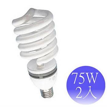 【東亞岱亞】75W 220V E40螺旋省電燈泡-2入(晝/黃)