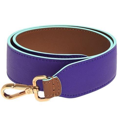 FENDI 經典STRAP YOU系列撞色雙面皮革背帶(紫X棕)