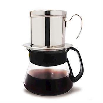 Hiles越南滴滴咖啡壺+玻璃咖啡壺組