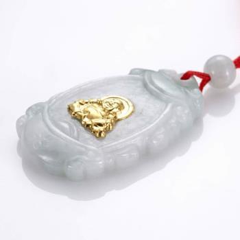 【PIAVEN珠寶】 翡翠觀音彌勒佛吊墜組