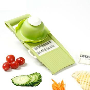 PUSH!廚房用品 防切手5插片替換式磨碎沫刨絲器切絲切片切菜器