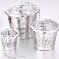PUSH!廚房餐具用品304不銹鋼滷料煲湯茶葉過濾器調味滷包器中號D78