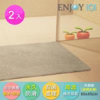 《ENJOY101》浴室防滑地墊(加厚)-45x60cm*2件組