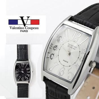 【Valentino范倫鐵諾】經典酒桶型皮革手腕錶