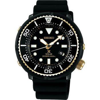 SEIKO 精工 Prospex SCUBA 鮪魚罐頭太陽能限量腕錶 V147-0BB0SD(SBDN028J)