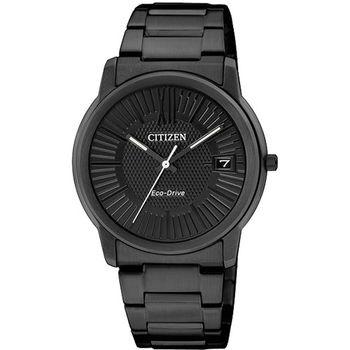 CITIZEN Eco-Drive 時尚都會三針腕錶-IP黑/32mm FE6015-56E