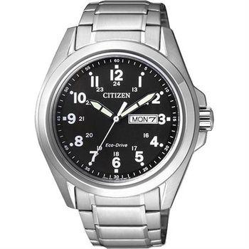 CITIZEN Eco-Drive光動能航行者腕錶-黑/43mm AW0050-58E