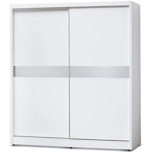 【MY傢俬】純白簡約橫紋6尺衣櫃