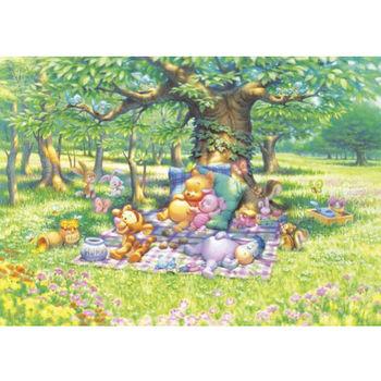 【日本TENYO】迪士尼進口拼圖-小熊維尼大樹下睡覺 300片 D-300-204