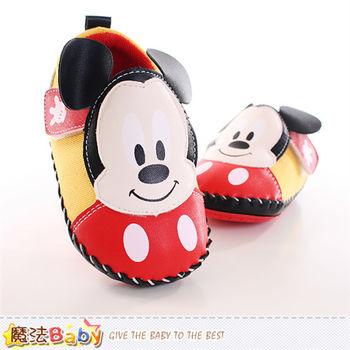 魔法Baby 寶寶鞋 迪士尼米奇正版真皮中底專櫃款~sh9880