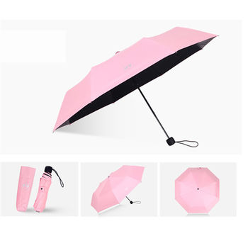 PUSH! 好聚好傘雨傘遮陽傘晴雨傘三摺傘折疊傘(100CM)I66