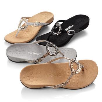 【美國VIONIC法歐尼】健康美體時尚鞋 Ricci 芮奇 (黑/金/銀)