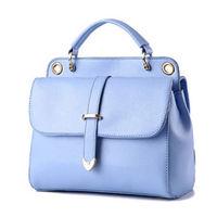 【L.Elegant】雙層時尚單肩手提兩用郵差造型包(共二色)