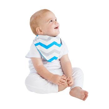 【Mum 2 Mum】雙面時尚造型口水巾圍兜-條紋藍