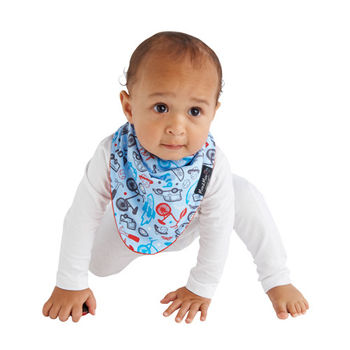 【Mum 2 Mum】雙面時尚造型口水巾圍兜-男孩紅